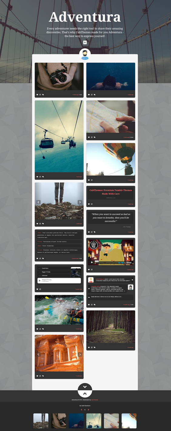 Adventura - Showcase Tumblr Theme by NicotineLL