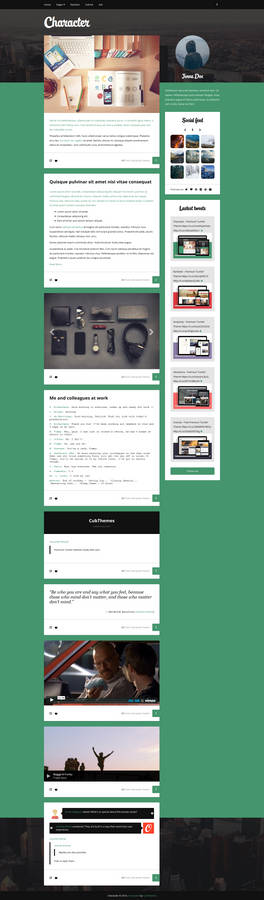 Character - Personal Tumblr Theme