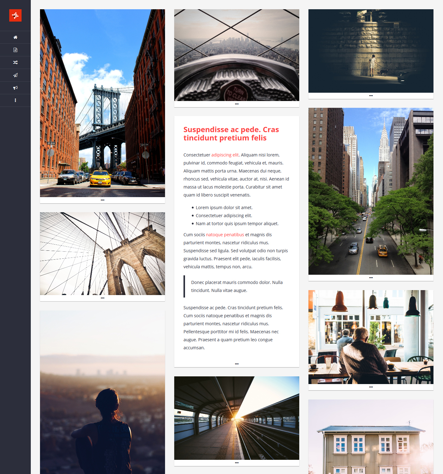 Gridlock - Gallery Tumblr Theme by NicotineLL