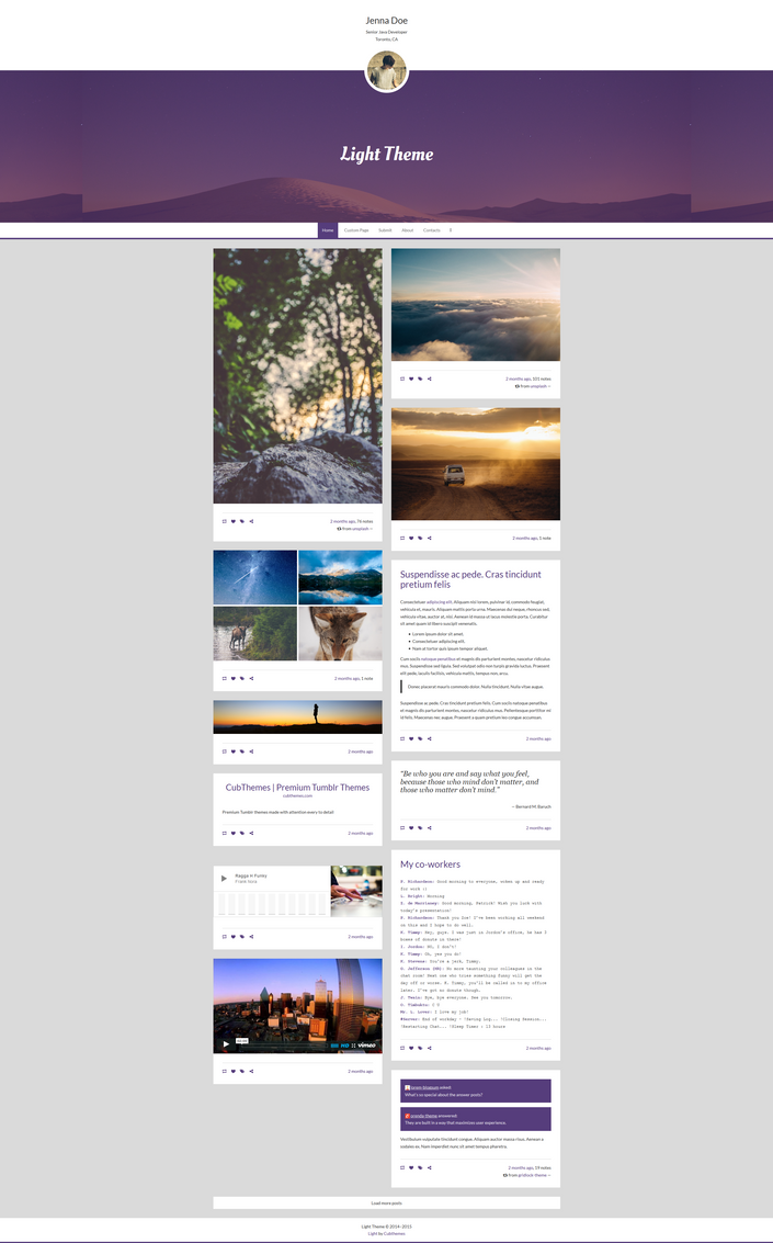Light - Personal Tumblr Theme by NicotineLL