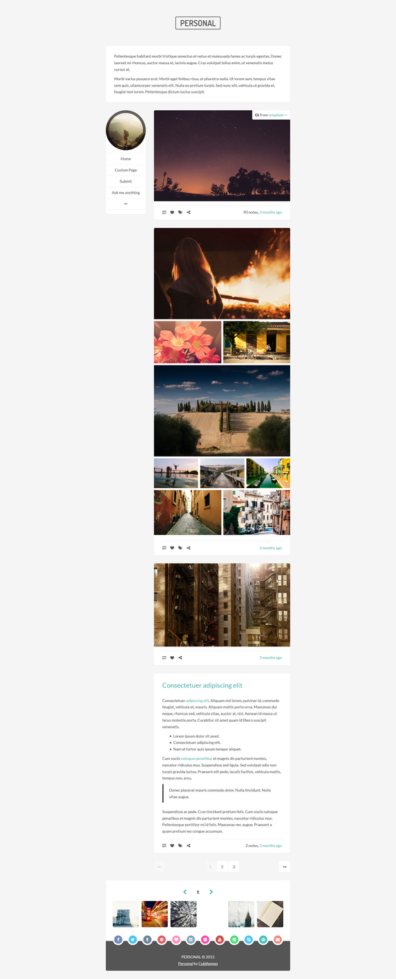 Personal - Minimal Tumblr Theme by NicotineLL