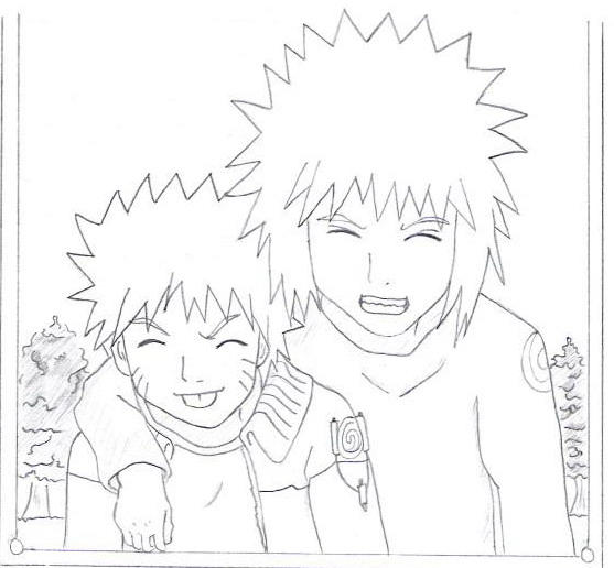 Naruto and Yondaime by Airesh