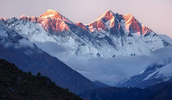 Everest Alpenglow - Nepal