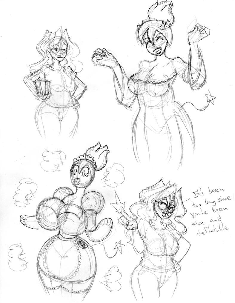 Random Daemon Doodles 1 by bouncymischa