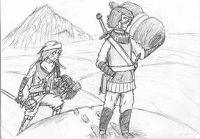 Desert buddies by LassieTheRex