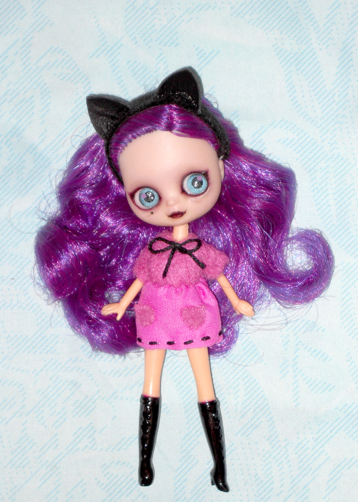Custom OOAK LPS Blythe Doll Tiffany The Cat Girl by LilliamSlasher