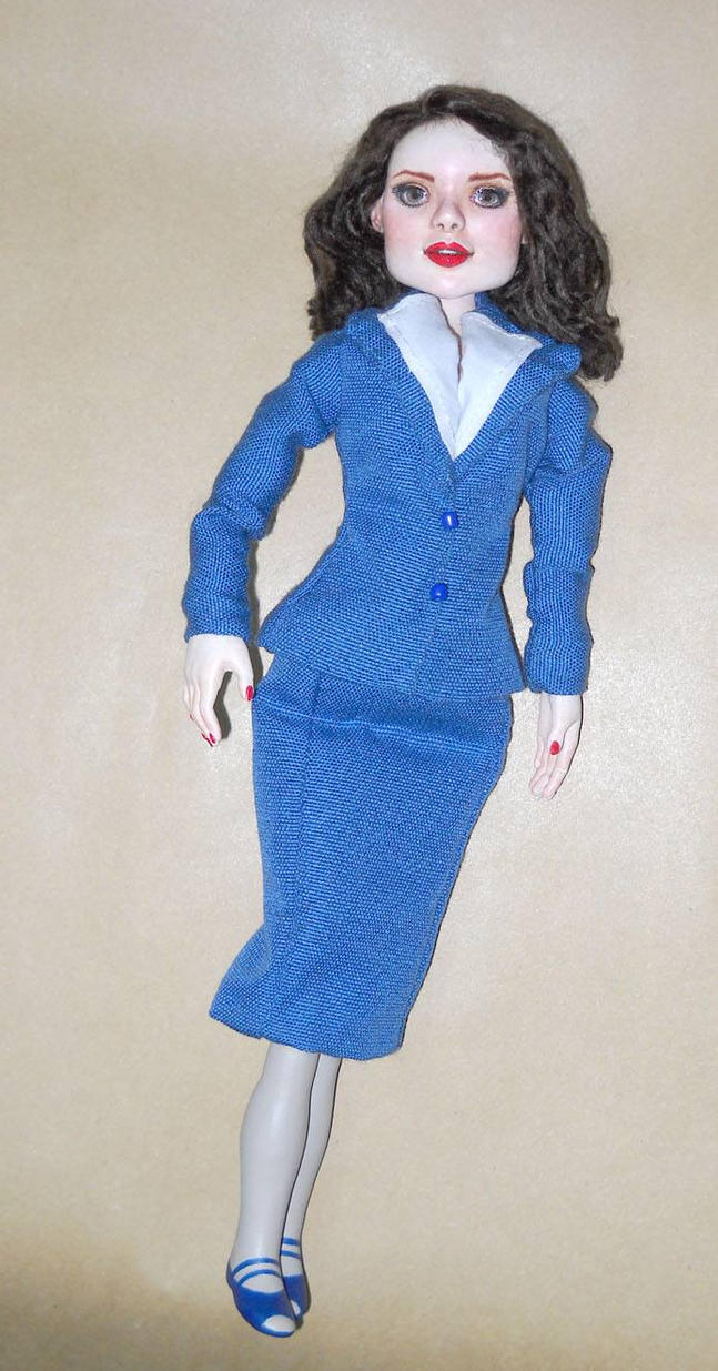 Agent Carter Toys : Agent carter inspired art doll by lilliamslasher on