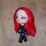 Chibi Black Widow inspired mini art doll by LilliamSlasher