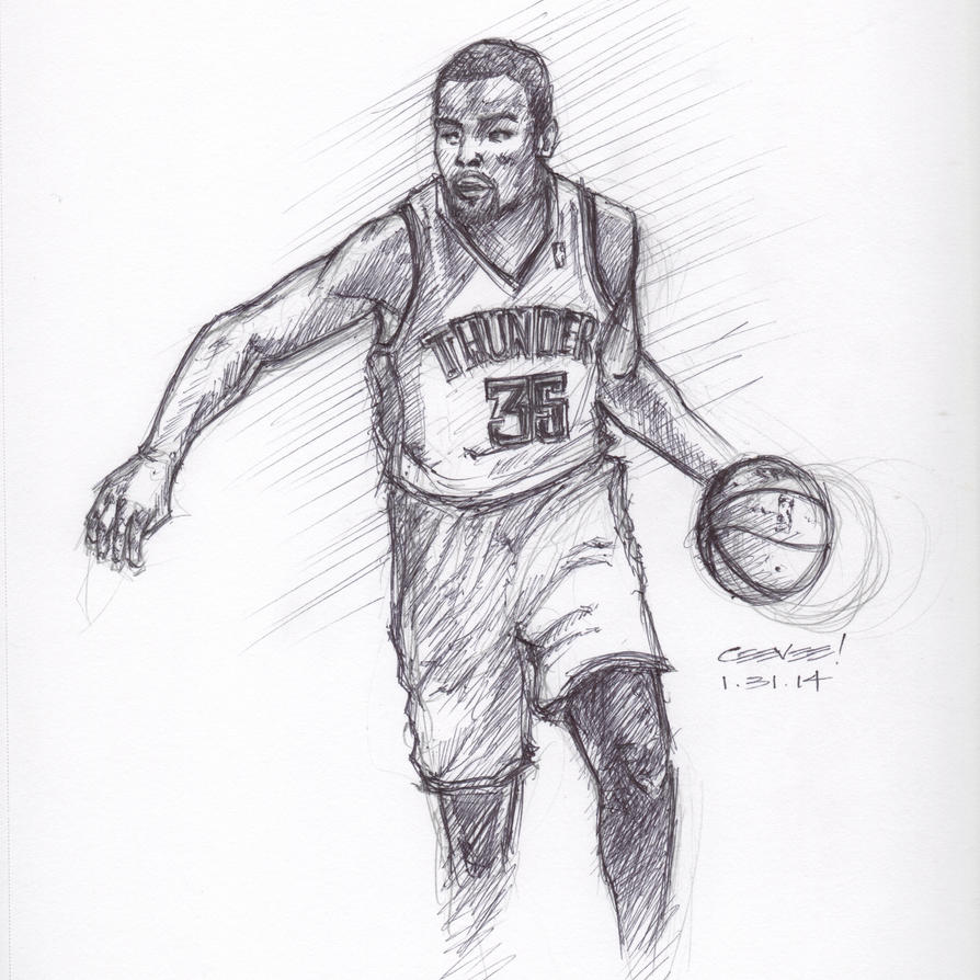 Kevin Durant Drawing Kevin Durant Drawings
