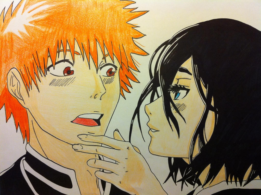 Ichigo Kurosaki and Rukia Kuchiki by Ivanishvili on DeviantArt