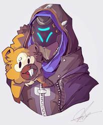 Shrike Ana and Bidoof by FizzyBoba