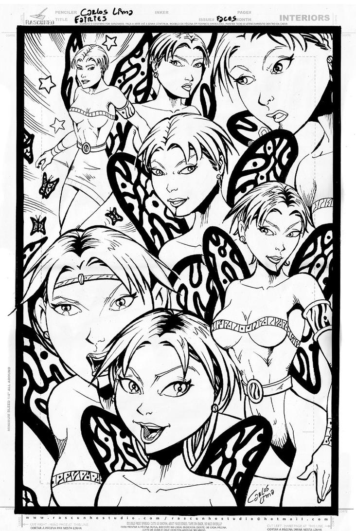 Fairies Pencil and Inks by carloslima