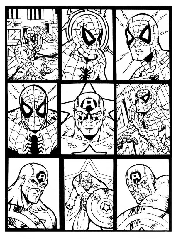 Sketchcards Marvel Sample by carloslima