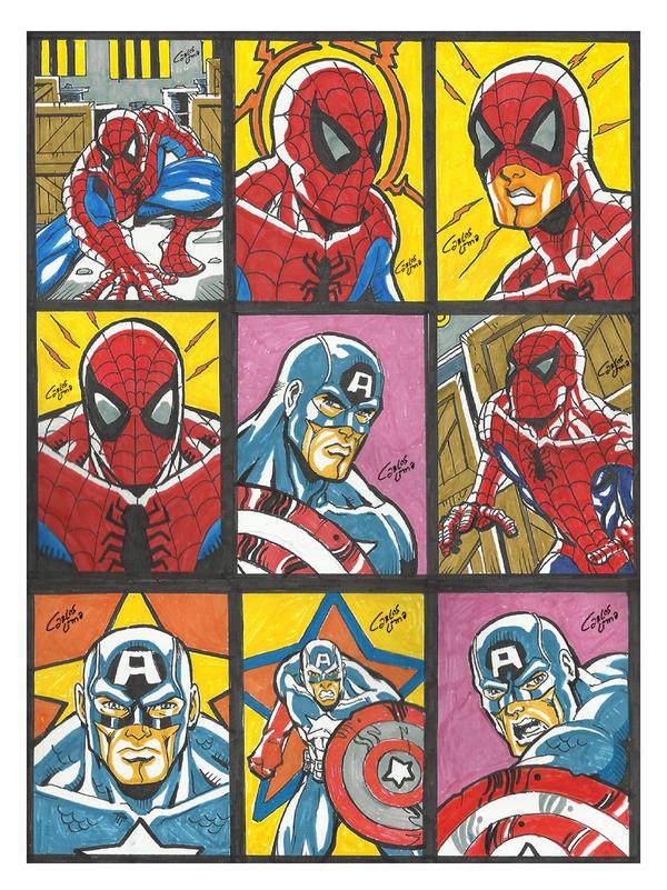 Skecthcards Marvel Sample - Color by carloslima
