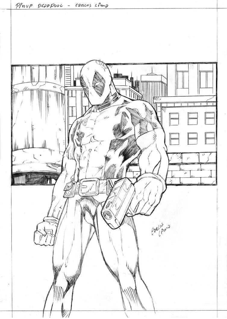 Deadpool Background Pencil by carloslima
