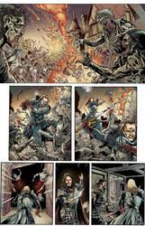 Battle - Warrios vs Zombies Color by carloslima