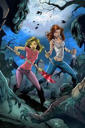Buffy And Faith Color by carloslima