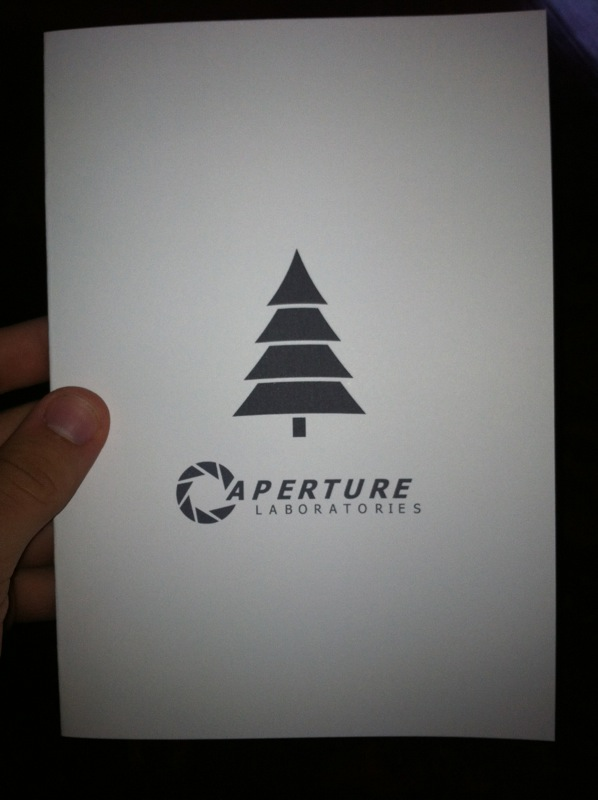 Portal Christmas Card Front by Yifflord486 on DeviantArt