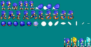 Modern Sonic in 8-bit style preview of The sprite