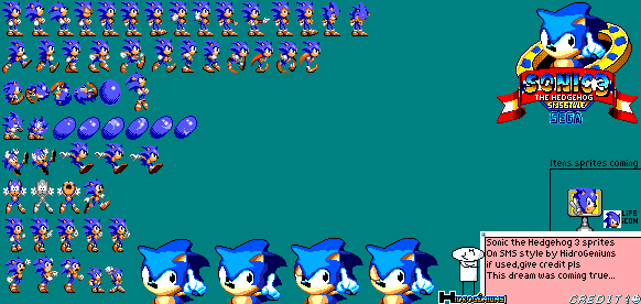 Sonic 3 Master System Sprites By Hidrogeniuns By Hidrogeniuns On