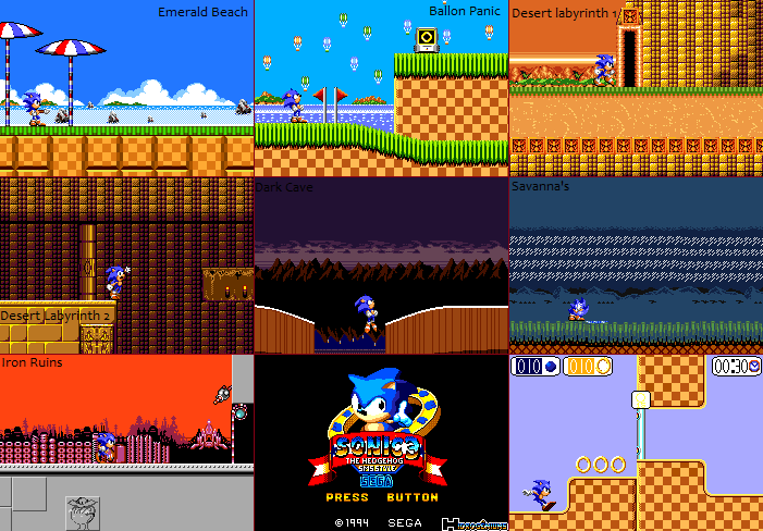 Sonic 3 Master System Style By Hidrogeniuns By Hidrogeniuns On