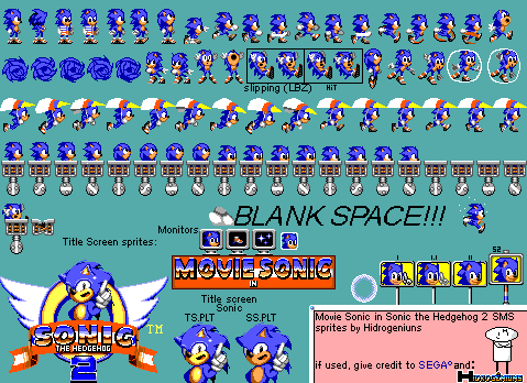 Movie Sonic In Sonic The Hedgehog 2 Sms S S By Hidrogeniuns On