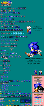 Modern Sonic in 8-bit sprite sheet! (2.0)