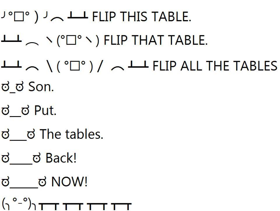 FLIP ALL THE TABLES By Muddykitty On DeviantArt - Flip this table flip that table
