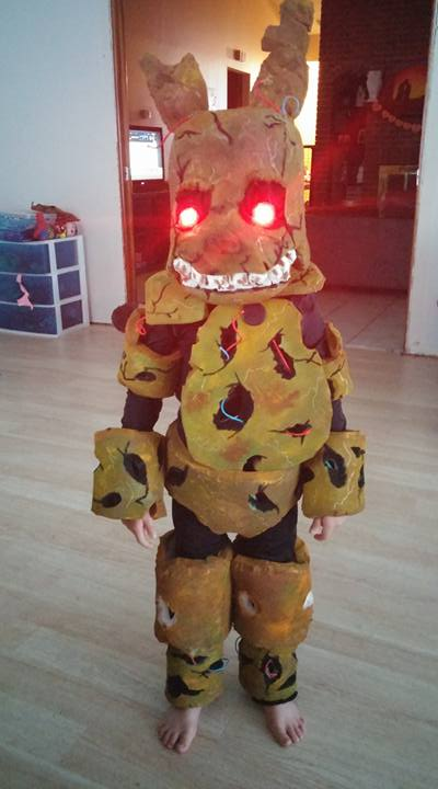 springtrap kids cosplayhalloween costumes by xtinewk