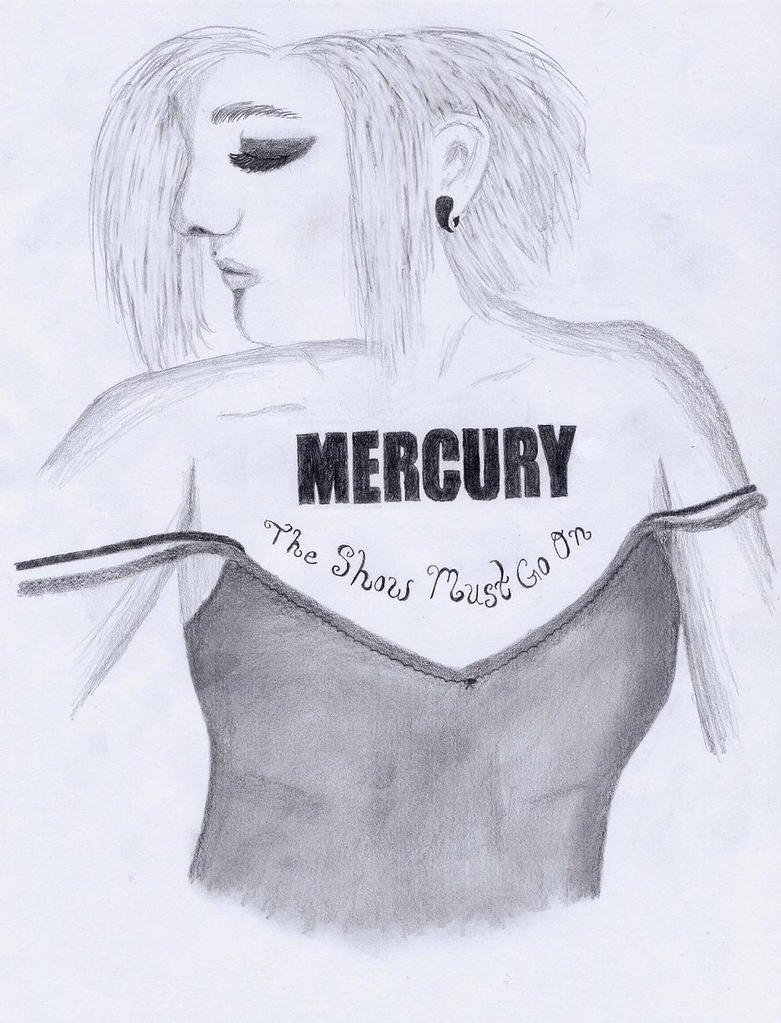 Mercury Chest Piece Tat Design - chest tattoo