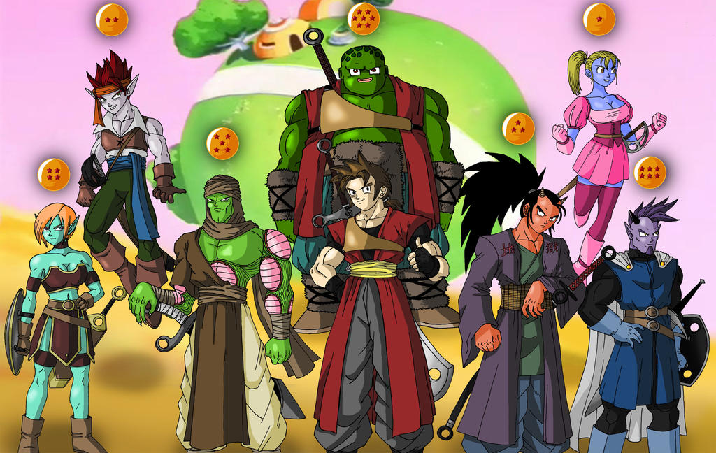 Dragonball OC group by taresh