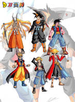 ichigoku naruffy+other fusions by taresh