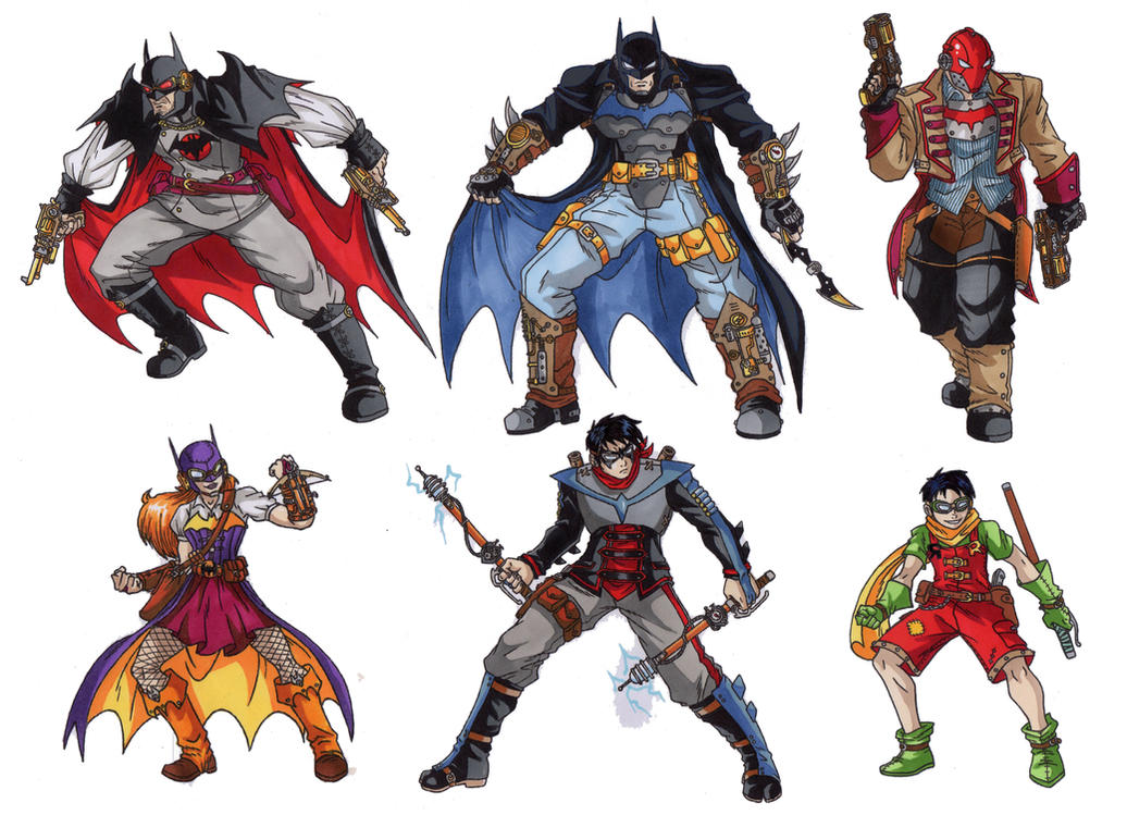 Batman Steampunk Designs By Taresh On DeviantArt