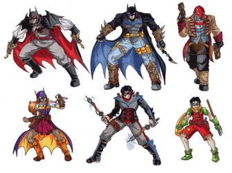 Batman Steampunk designs by taresh