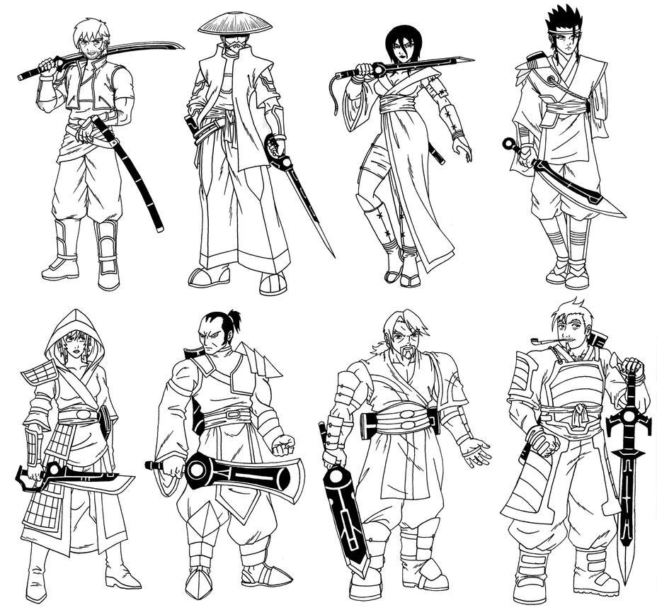 Ryak-Lo Clan/Class - 13 Tsurai by taresh
