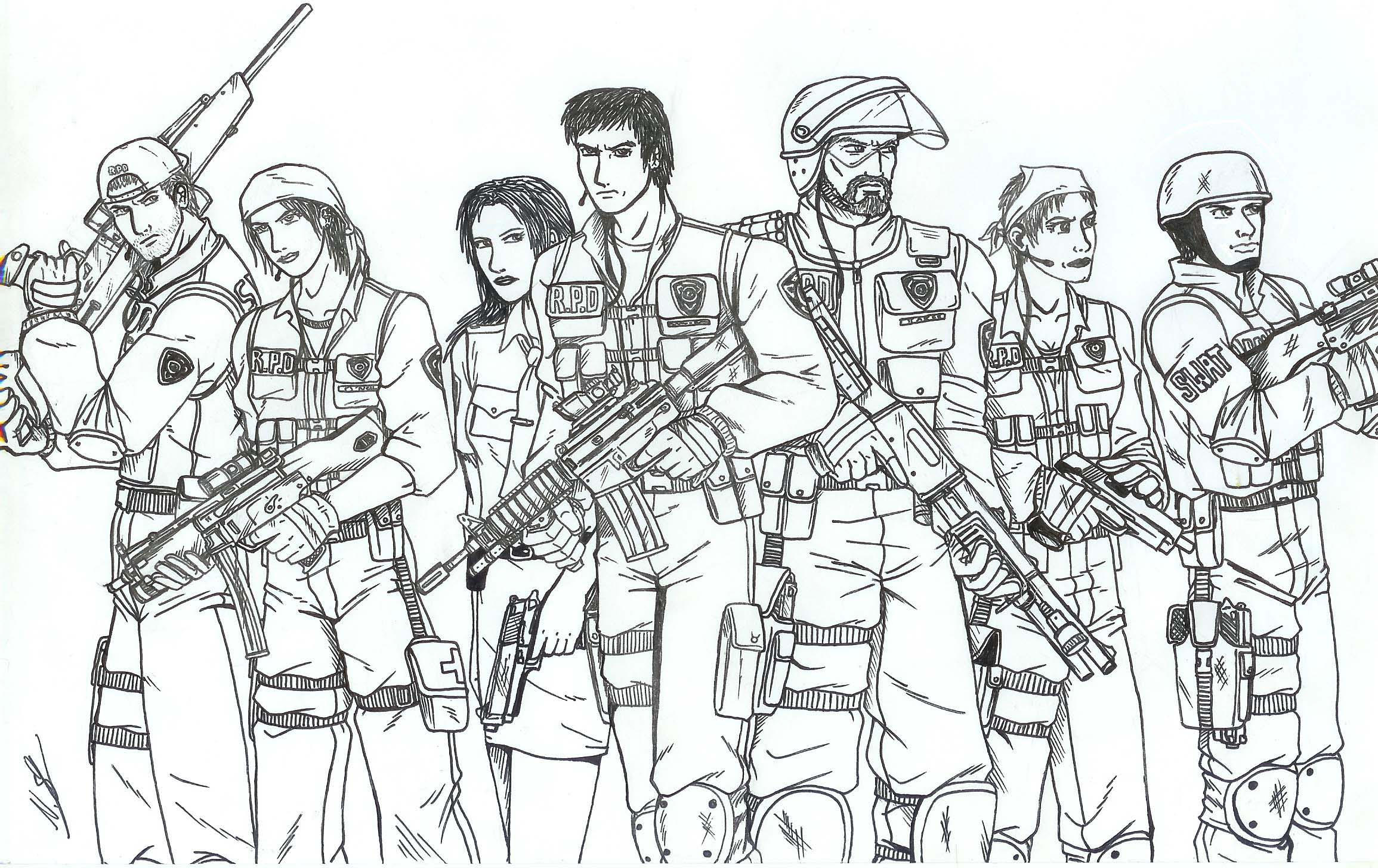 R p d swat team by taresh on deviantart for Swat team coloring pages