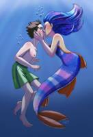 Galaxy Mermaid Kiss by Jashiku