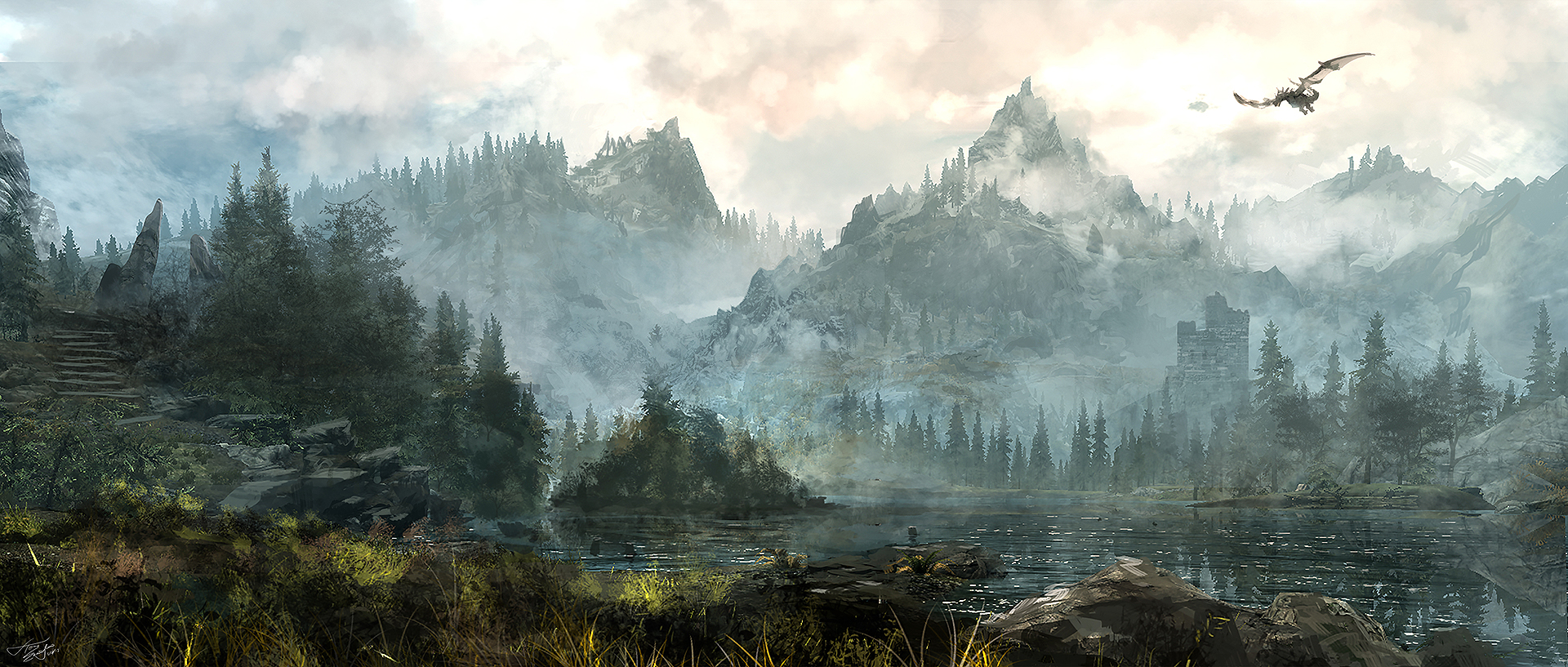 skyrim paint art wallpapers - photo #23