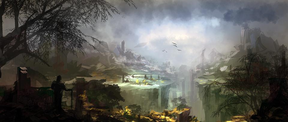 landscape doodle by tnounsy