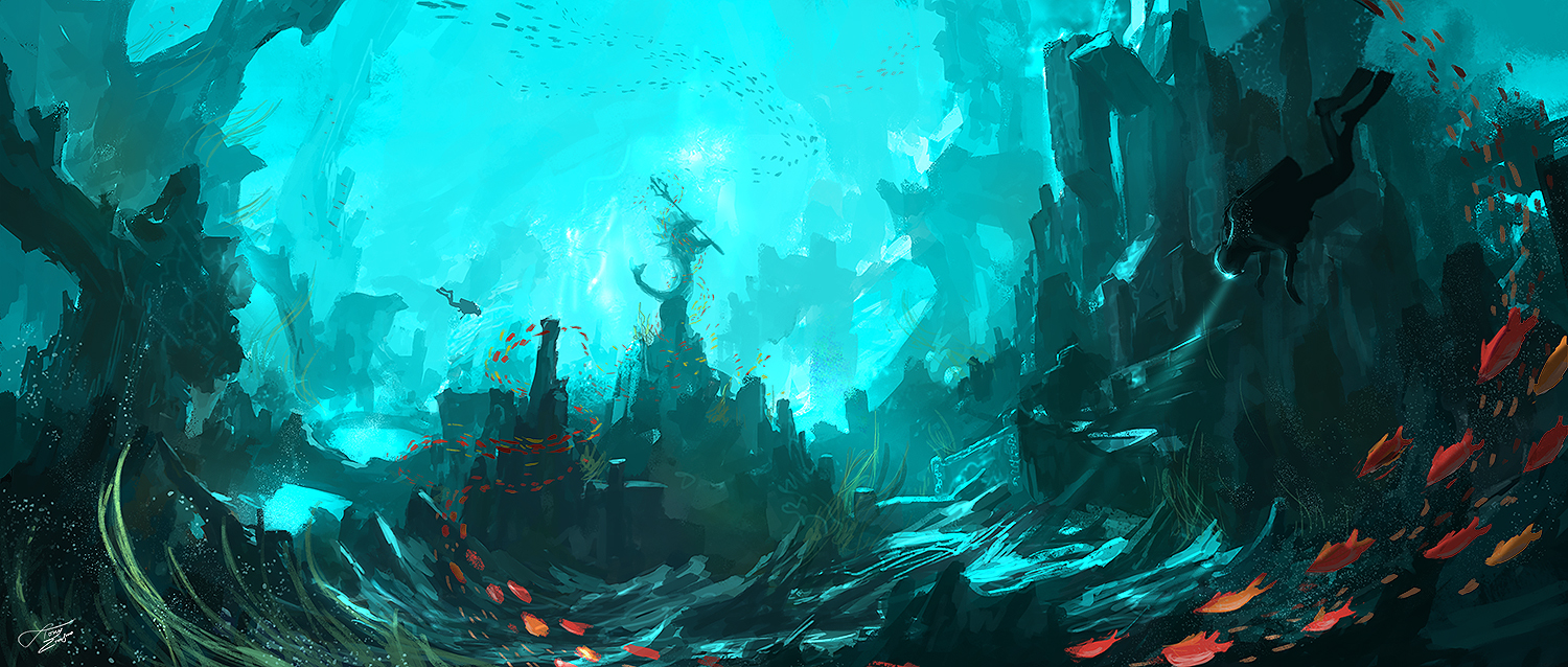 Underwater temple by tnounsy on DeviantArt