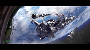 orbital construction site