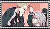 Kuzupeko (Kuzuryuu x Pekoyama) Stamp by misawafujisaki