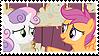Scootabelle (Scootaloo x Sweetie Belle) Stamp by misawafujisaki