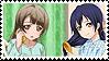 KotoUmi (Kotori x Umi) Stamp by misawafujisaki