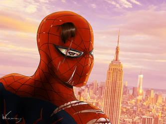 Spider-man poster by GreenBearArthurArt