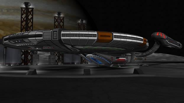 Custom Star Trek Ship WIP 9 with some lighting