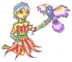 Tigerlily and friend coloured