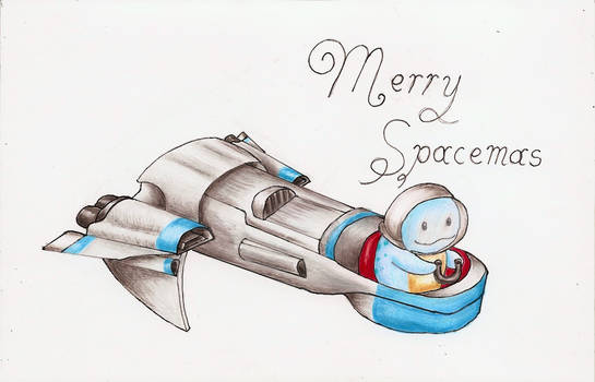 Spacemas Christmas card side A