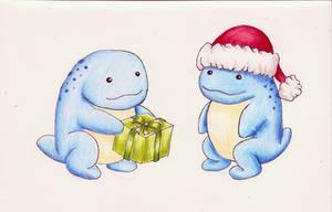 Spacemas Christmas card side B