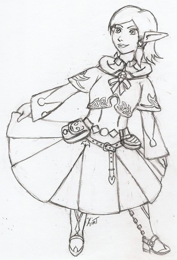 Ariannas enjoying FFXIV's white mage armour by Nefa-Aria